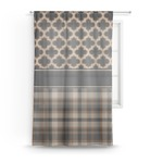 Moroccan & Plaid Sheer Curtains (Personalized)