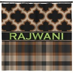 Moroccan & Plaid Shower Curtain (Personalized)
