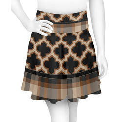 Moroccan & Plaid Skater Skirt (Personalized)