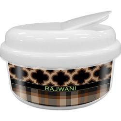 Moroccan & Plaid Snack Container (Personalized)