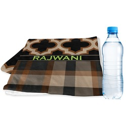 Moroccan & Plaid Sports Towel (Personalized)