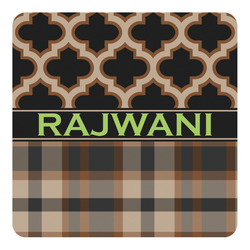 Moroccan & Plaid Square Decal - Custom Size (Personalized)
