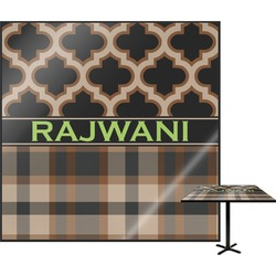 Moroccan & Plaid Square Table Top (Personalized)