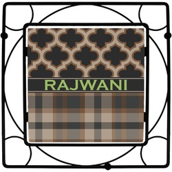 Moroccan & Plaid Square Trivet (Personalized)