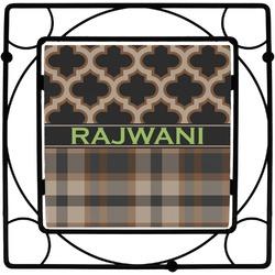 Moroccan & Plaid Square Trivet (Personalized)