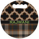Moroccan & Plaid Stadium Cushion (Round) (Personalized)