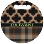 Moroccan & Plaid Stadium Cushion (Round) (Personalized)