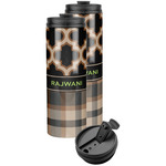 Moroccan & Plaid Stainless Steel Skinny Tumbler (Personalized)