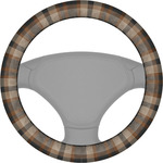 Moroccan & Plaid Steering Wheel Cover (Personalized)