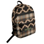 Moroccan & Plaid Student Backpack (Personalized)