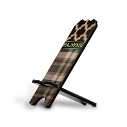 Moroccan & Plaid Stylized Phone Stand (Personalized)