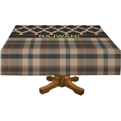 "Moroccan & Plaid Tablecloth - 58""x102"" (Personalized)"
