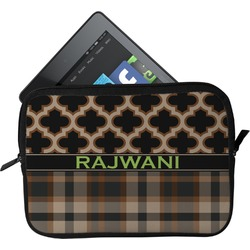 Moroccan & Plaid Tablet Case / Sleeve (Personalized)