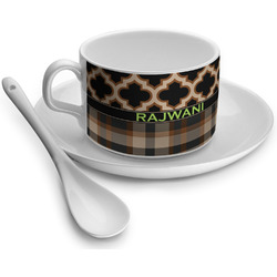 Moroccan & Plaid Tea Cup - Single (Personalized)