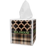 Moroccan & Plaid Tissue Box Cover (Personalized)