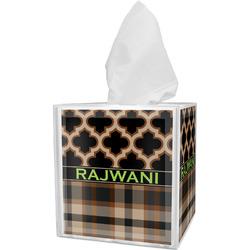 Moroccan & Plaid Tissue Box Cover (Personalized)