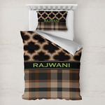 Moroccan & Plaid Toddler Bedding w/ Name or Text