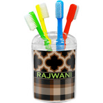 Moroccan & Plaid Toothbrush Holder (Personalized)