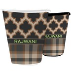 Moroccan & Plaid Waste Basket (Personalized)