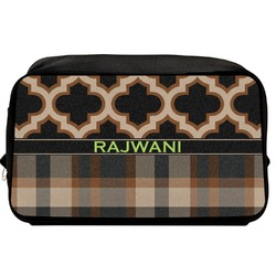 Moroccan & Plaid Toiletry Bag / Dopp Kit (Personalized)