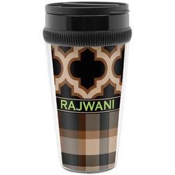 Moroccan & Plaid Travel Mug (Personalized)