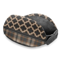 Moroccan & Plaid Travel Neck Pillow (Personalized)