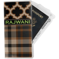 Moroccan & Plaid Travel Document Holder