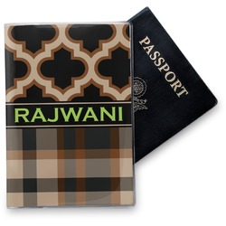 Moroccan & Plaid Vinyl Passport Holder (Personalized)