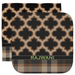 Moroccan & Plaid Facecloth / Wash Cloth (Personalized)