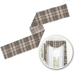 Moroccan & Plaid Window Sheer Scarf Valance (Personalized)