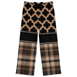 Moroccan & Plaid Womens Pajama Pants (Personalized)