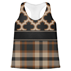 Moroccan & Plaid Womens Racerback Tank Top (Personalized)