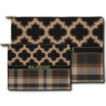Moroccan & Plaid Zipper Pouch (Personalized)