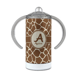 Giraffe Print 12 oz Stainless Steel Sippy Cup (Personalized)