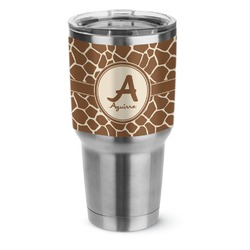 Giraffe Print Stainless Steel Tumbler - 30 oz (Personalized)