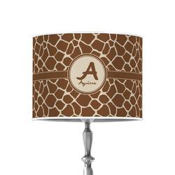 "Giraffe Print 8"" Drum Lamp Shade - Poly-film (Personalized)"