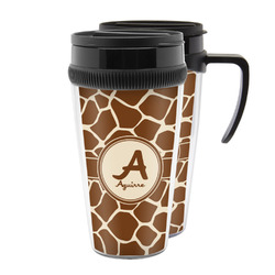 Giraffe Print Acrylic Travel Mugs (Personalized)