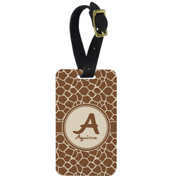Giraffe Print Aluminum Luggage Tag (Personalized)