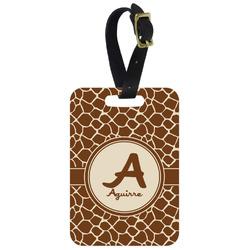 Giraffe Print Aluminum Luggage Tag (Personalized)