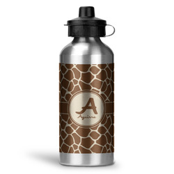Giraffe Print Water Bottle - Aluminum - 20 oz (Personalized)