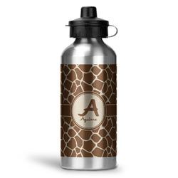 Giraffe Print Water Bottle - Aluminum - 20 oz (Personalized)