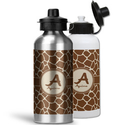 Giraffe Print Water Bottles- Aluminum (Personalized)