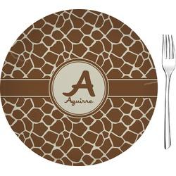 "Giraffe Print 8"" Glass Appetizer / Dessert Plates - Single or Set (Personalized)"