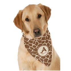 Giraffe Print Dog Bandana Scarf w/ Name and Initial