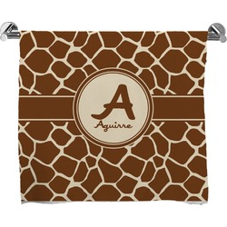 Giraffe Print Full Print Bath Towel (Personalized)