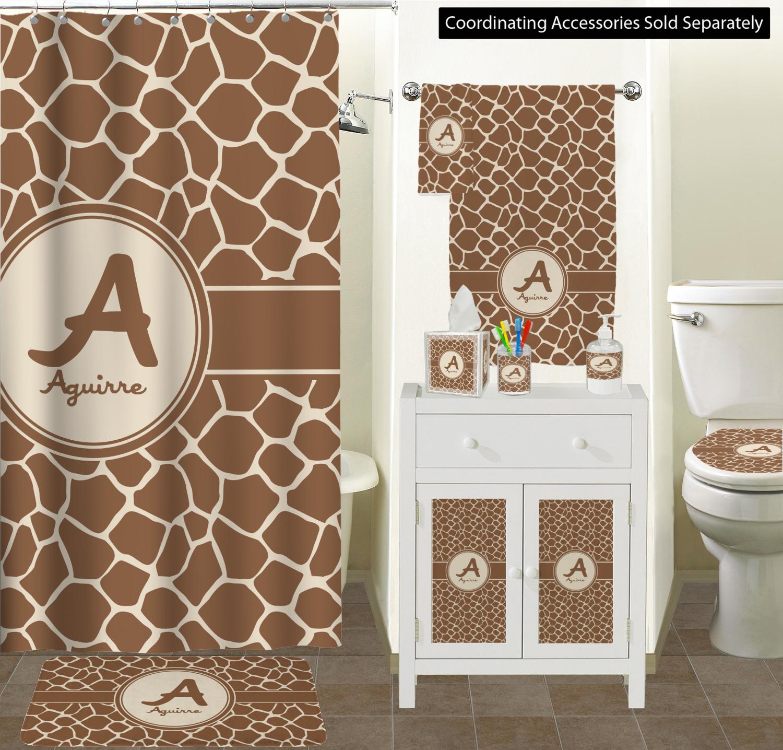 Giraffe Print Bathroom Scene Custom Decor