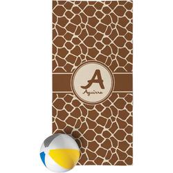 Giraffe Print Beach Towel (Personalized)