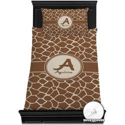 Giraffe Print Duvet Cover Set - Twin XL (Personalized)