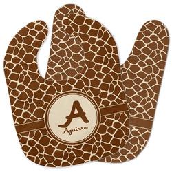 Giraffe Print Baby Bib w/ Name and Initial