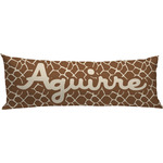 Giraffe Print Body Pillow Case (Personalized)